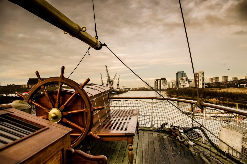 Rear view of the Tall Ship in Glasgow