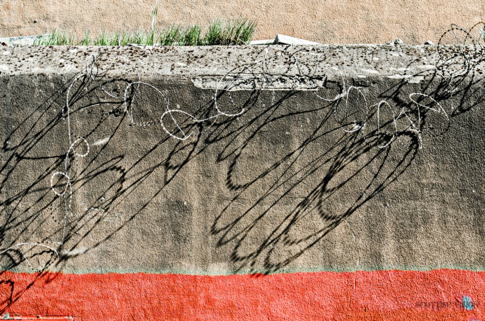 Layers with barbed wire