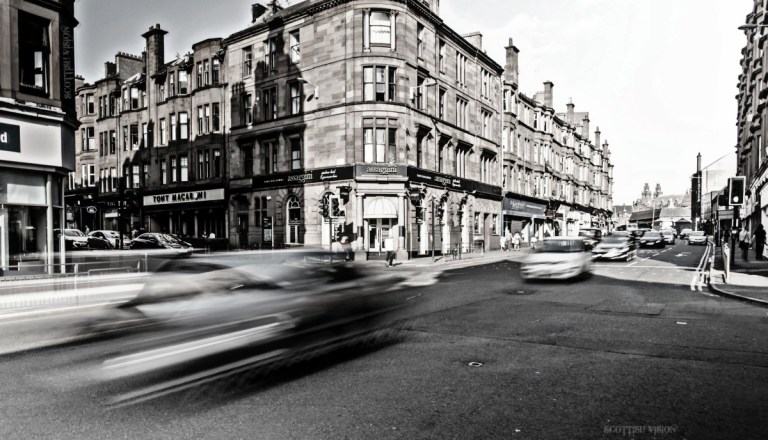 Junction of Byres Road and Dumbarton Road