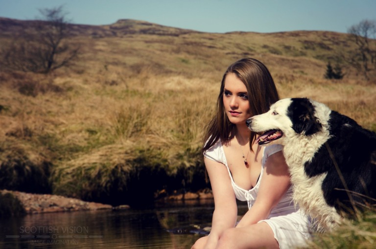 Steffie and Tyse at the river
