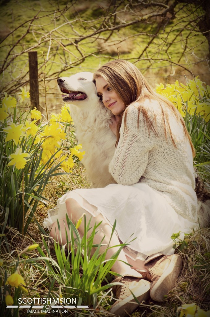 The bond between a girl and her dog is unbreakable
